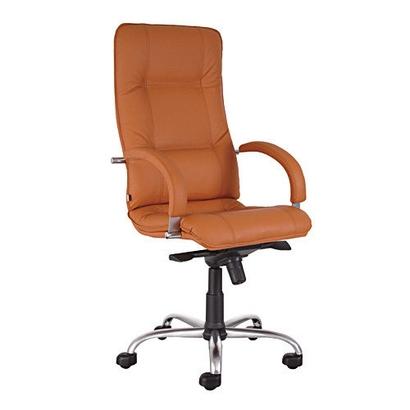 Star steel chrome LES кресло кожаное Стар хром