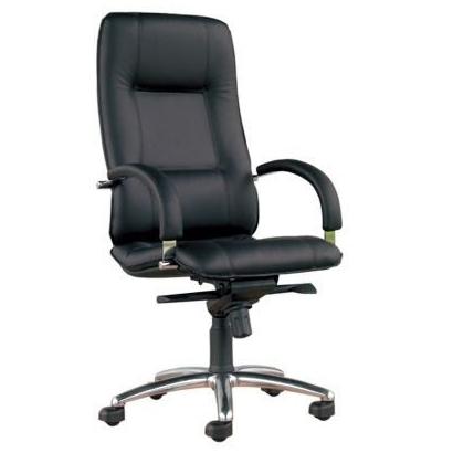 Star steel chrome кресло кожаное Стар хром